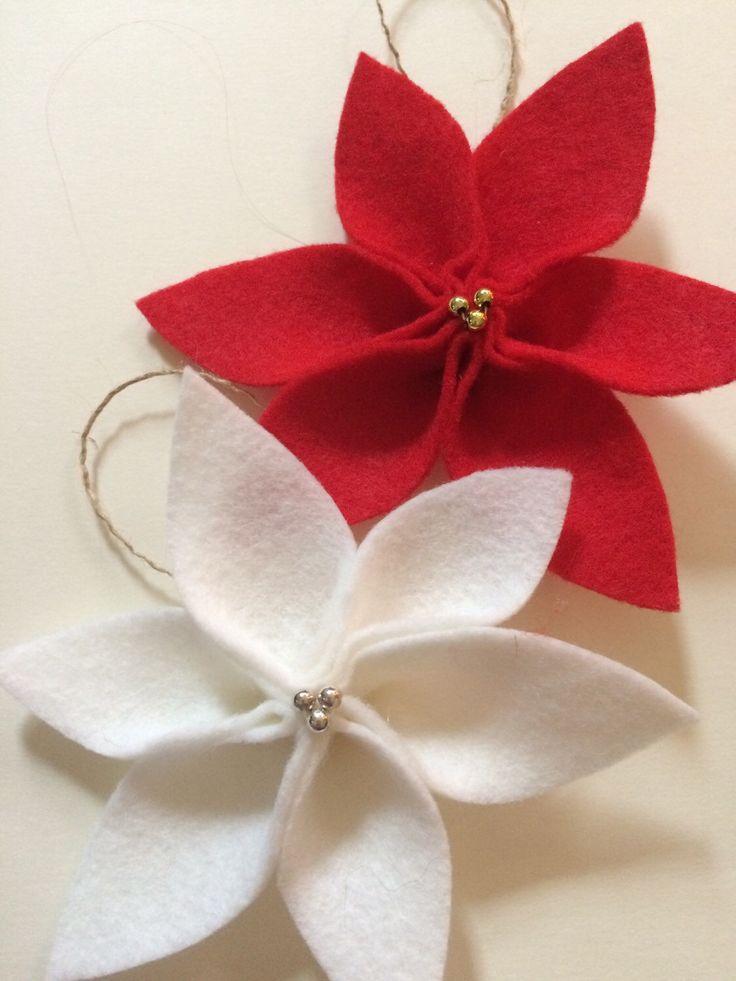 A personal favorite from my Etsy shop https://www.etsy.com/listing/258866599/felt-christmas-ornaments-felt-poinsettia