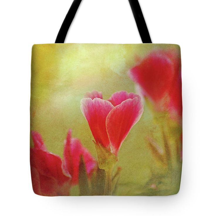 Tote Bag featuring the photograph Flowers Whispers by Larysa Koryakina. Accessories, Home Decor.