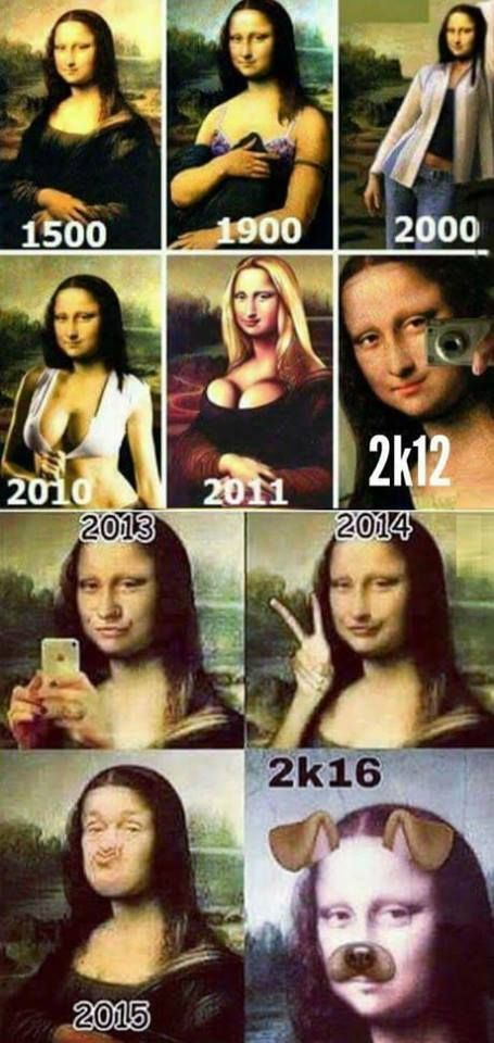 Evolution of female profile pictures on social media - #funny #lol #viralvids #funnypics #EarthPorn more at: http://www.smellifish.com