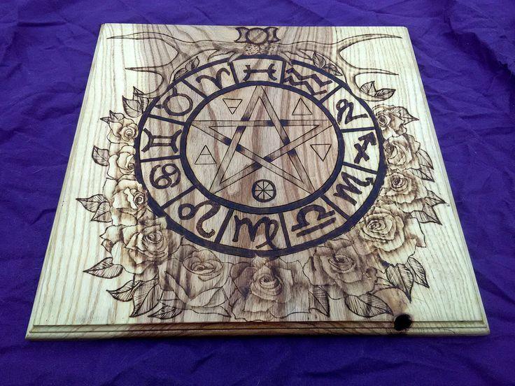 SALE ** Dryad Altar - Pagan Altar - Pentacle - Oak Wood - High Quality by vicillascauldron on Etsy https://www.etsy.com/no-en/listing/508635693/sale-dryad-altar-pagan-altar-pentacle