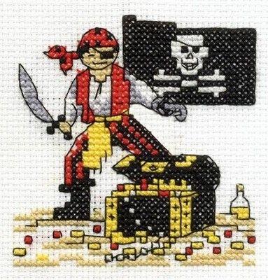 BE A Pirate Cross Stitch KIT Make A Wish DMC | eBay
