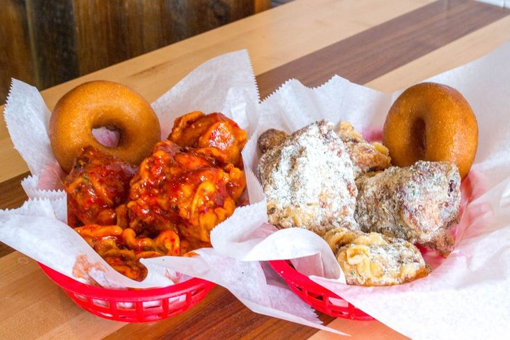 The fried chicken and doughnuts at Federal Donuts.
