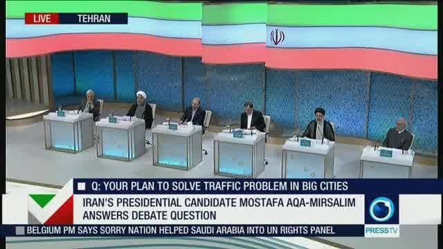 First live debate of Iranian Presidential candidates resumes  #IranElections2017