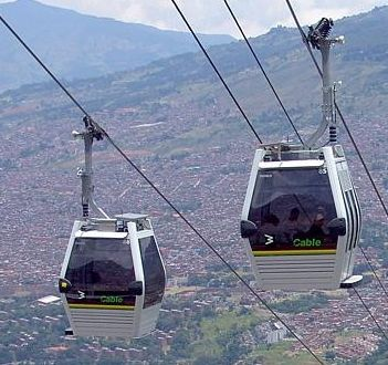 El metrocable en Manizales