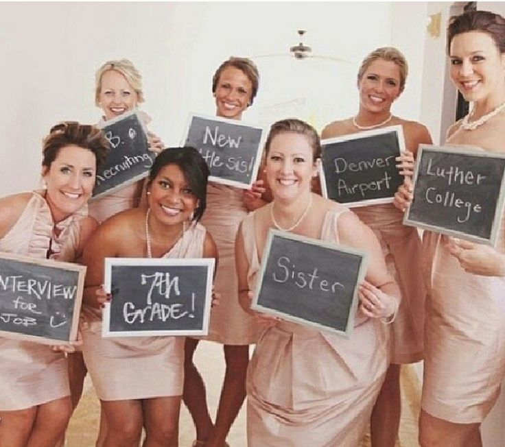How you know each bridesmaid