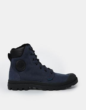 ah want this. Palladium+Pampa+Cuff+Waterproof+Nordic+Blue+Boots