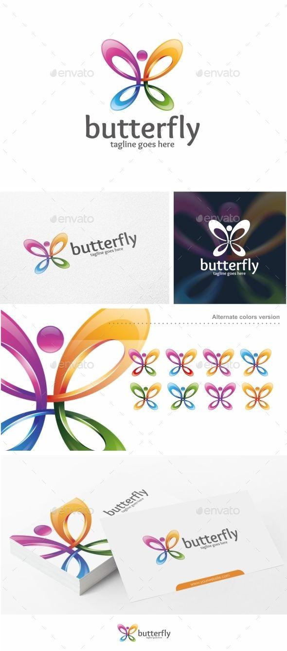 Butterfly - Logo Template #design #logotype Download: http://graphicriver.net/item/butterfly-logo-template/11383955?ref=ksioks
