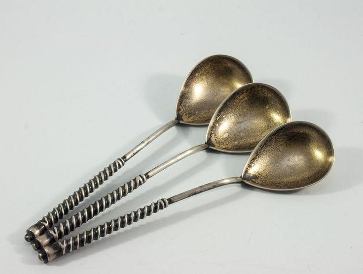 3 teaspoon. Silver 875. USSR Russia, 48 gram. #USSR