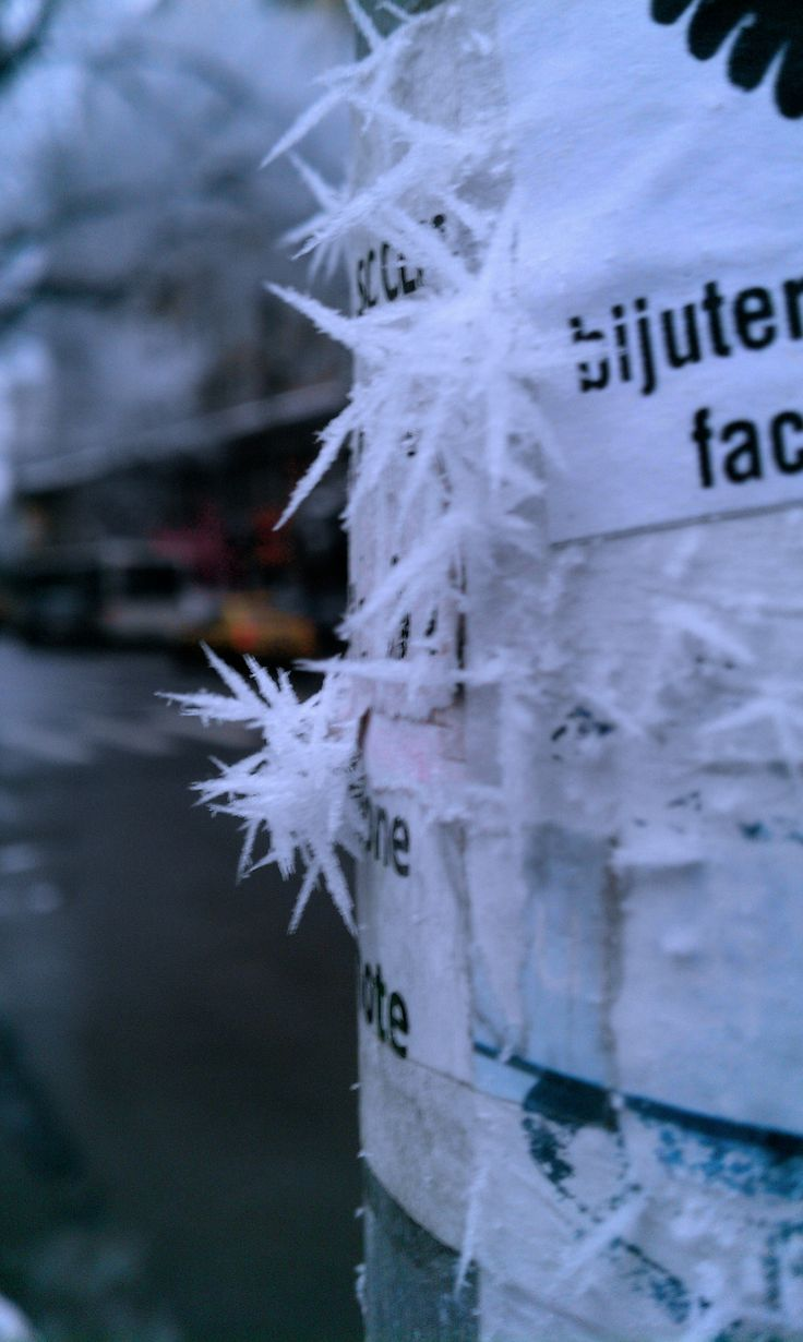 Winter in Bucharest increase the visibility and makes posters to be a little bit more attractive.