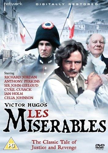 Les Miserables [1978] [DVD]: Amazon.co.uk: Richard Jordan, Anthony Perkins, John Gielgud, Ian Holm, Claude Dauphin, Angela Pleasence, Cyril Cusack, Glenn Jordan: Film & TV