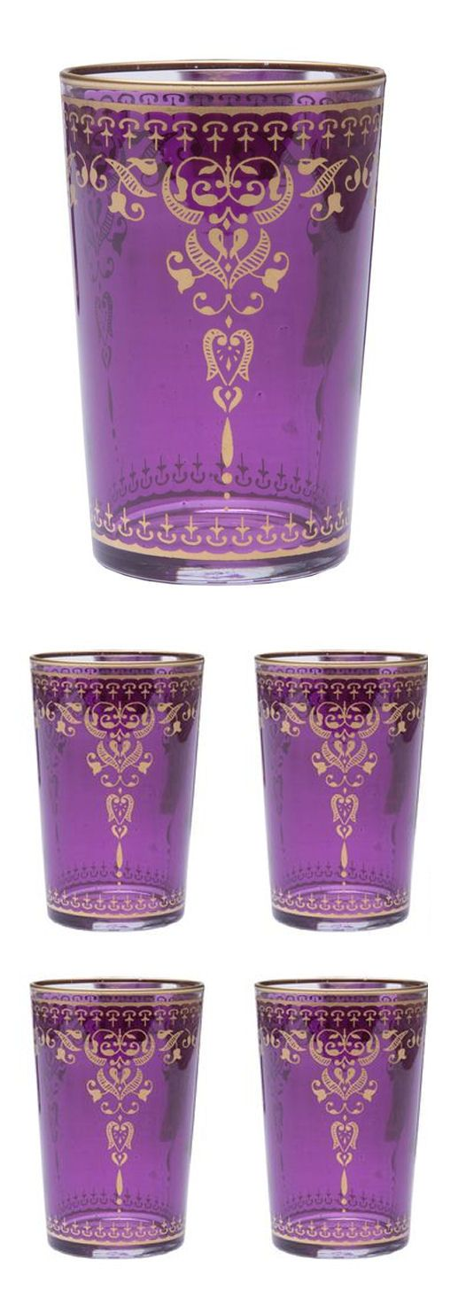 Purple Moroccan Tea Glasses ❤︎