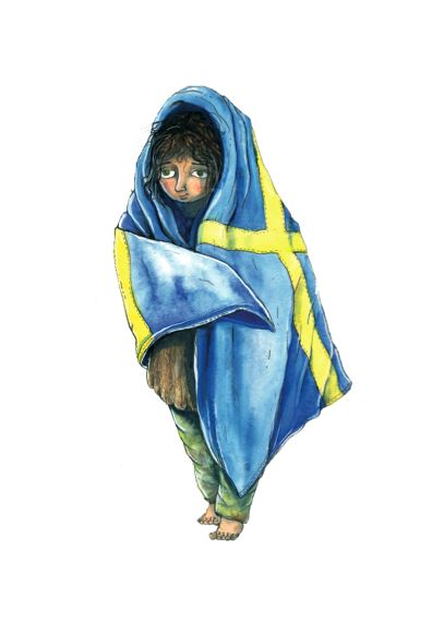 "Marcus Gunnar Pettersson - ""Sverigefilt"". Avaiable at: http://www.arrivals.se/product/sverigefilt-återvinnsverige #återvinnsverige #art #affordable #affordableart #arrivals ##sweden #flag #solidarity"