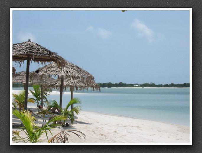 At Sogara Club, looking toward Relais Bleu, in Port Gentil, Gabon.