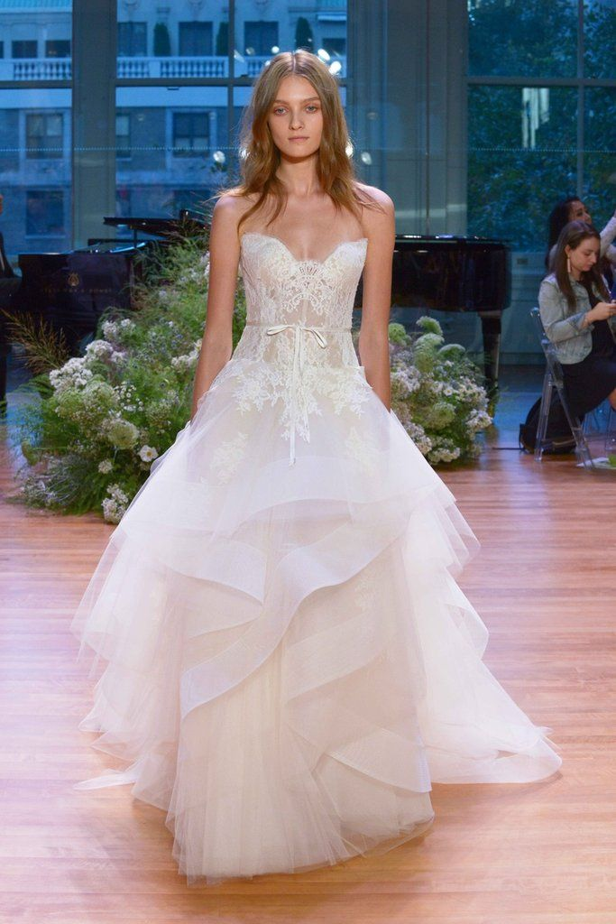 Monique Lhuillier Tresor Size 2 Used Wedding Dress Front View On