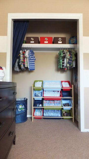 I Feel Like This Is A Good Idea Until The Baby Can Crawl.then Itu0027s Like  DIAPERS EVERYWEHRE! A Toy Organizer Was Used To Store Diapers U0026 Shoes In  This Little ...