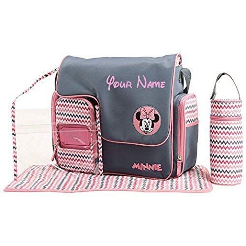 9a511a5062 Personalized Disney Minnie Mouse Chevron Print Baby Duffel Diaper Bag with  Flap Top - 5 Piece Set Review