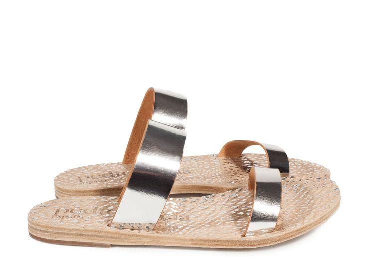 Pedro García style: Ilithia / metallic monk sandal silver vacchetta I Pedro García shoes I Spring-Summer 2016 I Made in Spain