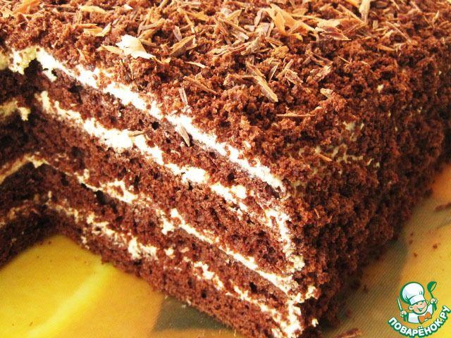 Торт кофейно-шоколадный - кулинарный рецепт