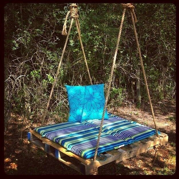 Old pallet with some cushions