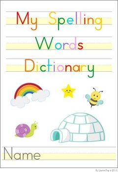 My Spelling / Sight Words Dictionary FREE | OT writing/handwriting ...