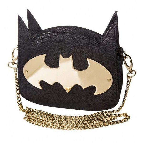 DC Comics Batman Gotham Gold Cross Body Bag (£30) ❤ liked on Polyvore featuring bags, handbags, shoulder bags, gold cross body purse, crossbody purses, cross body, gold purse and crossbody shoulder bags