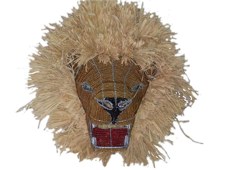 Lion Wire Beaded Mask