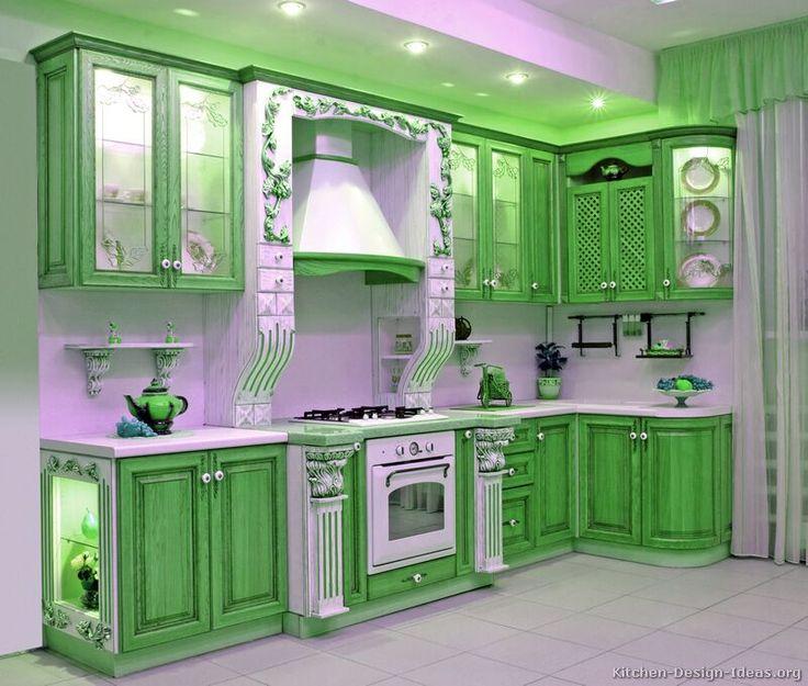 Groene Keuken Accessoires : Green Kitchen Cabinets