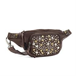 DEPECHE bæltetaske/belt bag vintage - style B10020 - winter brown