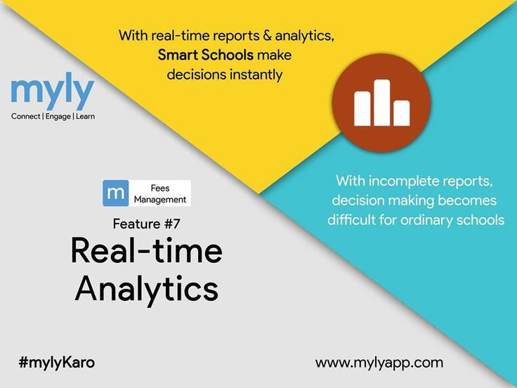 With myly Fees Management, get access to real-time reports & analytic on fees due & fees collected under different heads.  Know more: https://goo.gl/UTrIr6  #myly #SchoolFees #OnlineSchoolFeePayment #SchoolERP