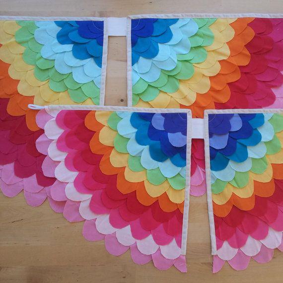 Large REVERSE RAINBOW Bird wings Costume Child 58yrs by WittleBird, $70.00au