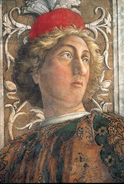 Andrea Mantegna - The Court of Gonzaga (detail) 1465-74 Camera degli Sposi, Palazzo Ducale, Mantua