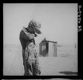 A Child during the Dust Bowl Era