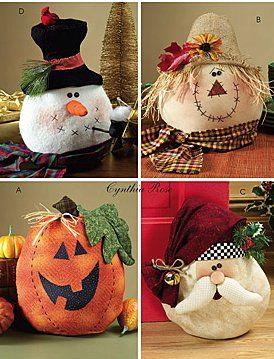 Cafe Hoffy: Snowman, Scarecrow, Pumpkin, and Santa Craft
