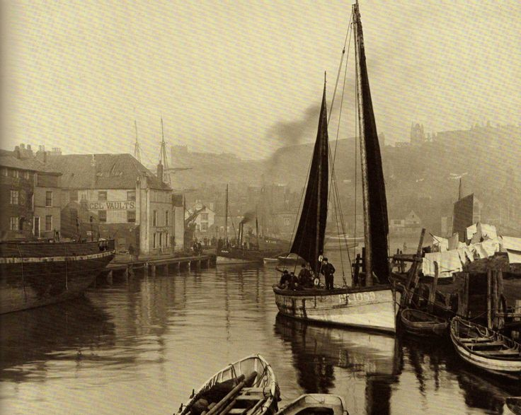 Whitby Dock End - Upper Harbour - Whitby - North Yorkshire - England - Late 1880s