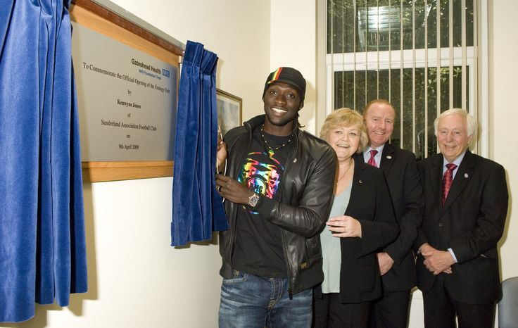 In April 2009 Sunderland footballer Kenwyne Jones opened our new urology unit at the QE
