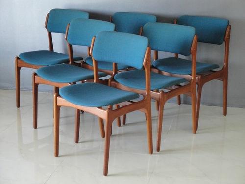 Set of six erik buck teak mid century danish modern dining chairs   eBay145 best Mid Century Mod   Look Alikes images on Pinterest   Mid  . Mid Century Modern Chairs Ebay. Home Design Ideas