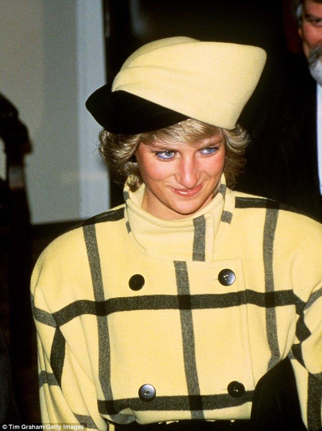 Diana, who had a penchant for tartan, would often overkill the pattern. Pictured: Princess...