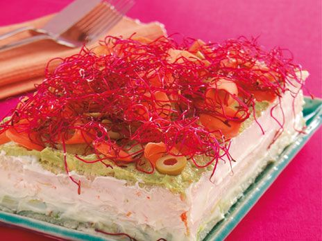 Vegetarisk smörgåstårta | Recept.nu