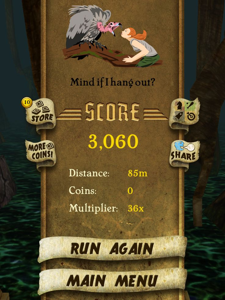 I got 3060 points while escaping from demon monkeys beat
