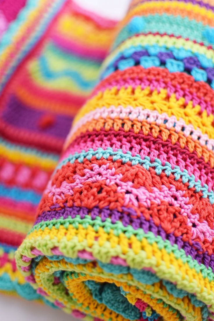 I like the idea of using a different color and stitch for each row.