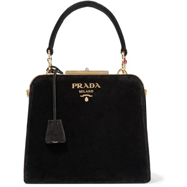 PradaCrystal-embellished Velvet Tote (€3.575) ❤ liked on Polyvore featuring bags, handbags, tote bags, black, prada, velvet purses, prada tote bag, embellished handbags and handbags totes