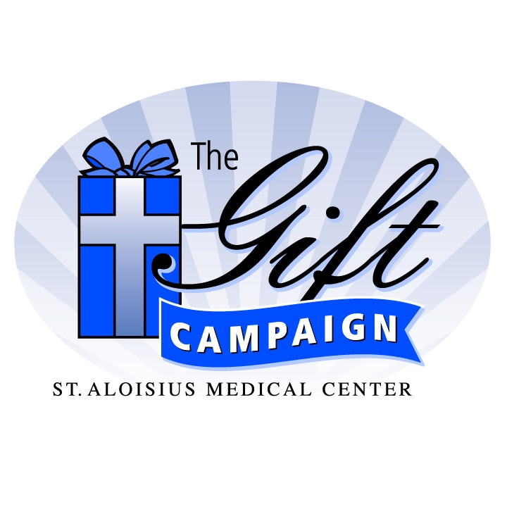 Gift Campaign, St. Aloisius Medical Center. Logo design by McQuillen Creative Group. Troy McQuillen, designer.