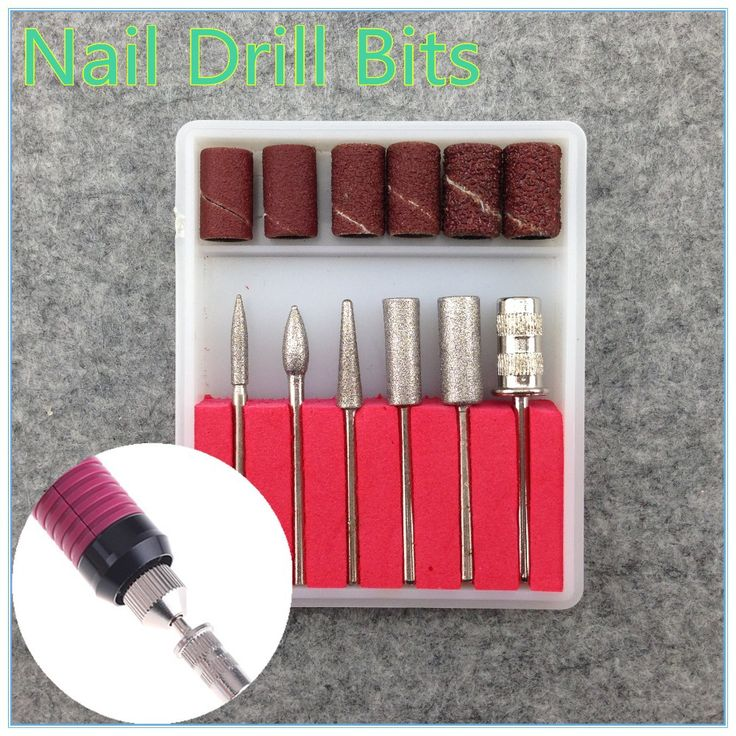 6 STÜCKE Bohrer und Sanding band für Nagel Bohren Ersatz Set Nagel Elektro Datei Metall Bits + Kostenloser Versand (NR-WS35)