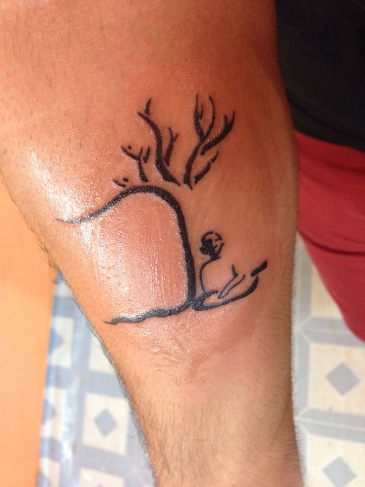 Minimalist meditation tattoo I got in Goa, India. : tattoo