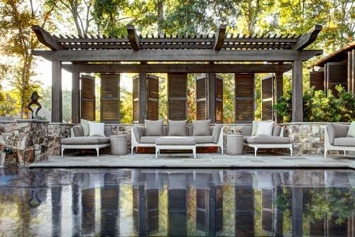 Patio IdeaTraditional Design, Ideas, Lakes House, Pergolas, Pools House, Home Design, Dungan Nequette, Outdoor Spaces, Pools Design