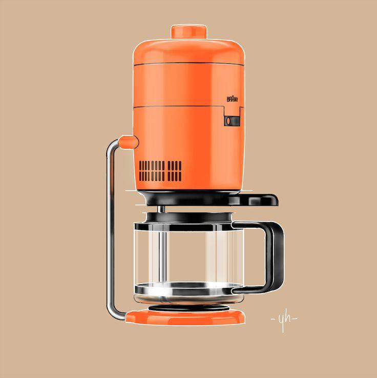 #Braun's KF20 #Aromaster. Created using #SketchBookPro #productdesign #industrialdesign #idsketching