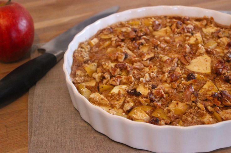 Havermout appel taart voor ontbijt1