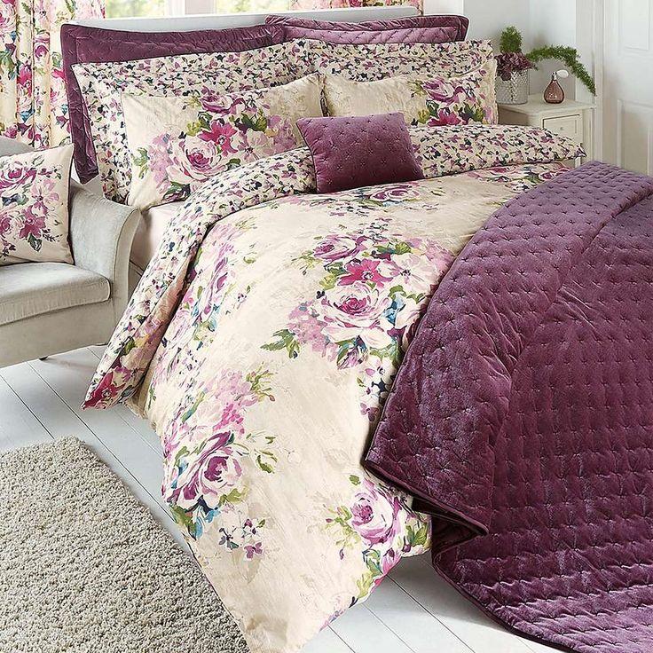 Misty Moors Plum Bed Linen Collection | Dunelm