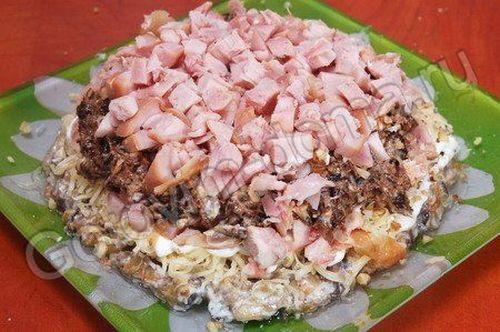 Рецепт салата из копченой курицы с фото