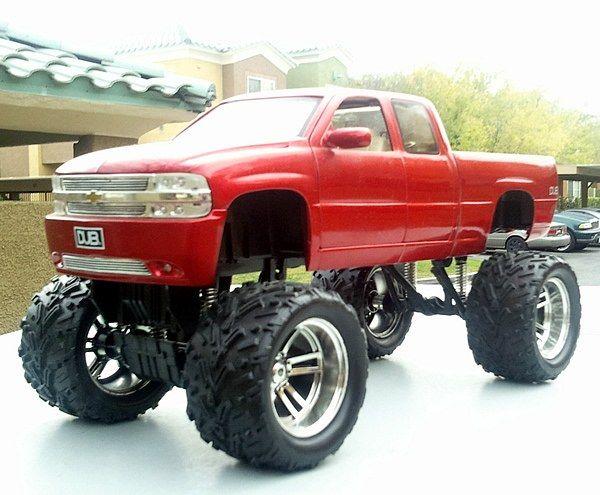 Big 4x4 Lifted Trucks   18 Lifted Chevy Silverado 4x4 Pickup Monster Truck Dub City Big ...